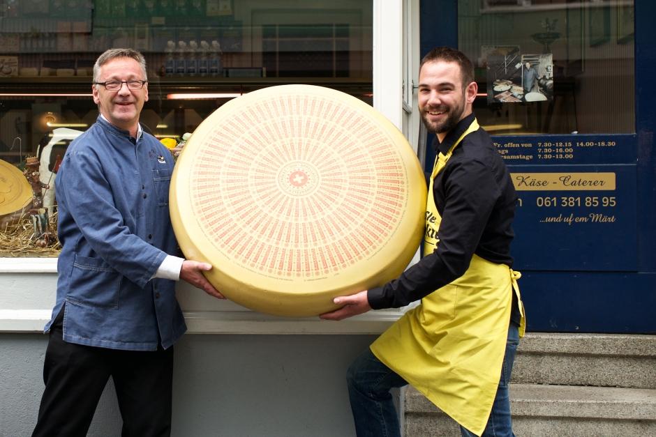 Wirth senior und junior undihre Käsespezialitäten