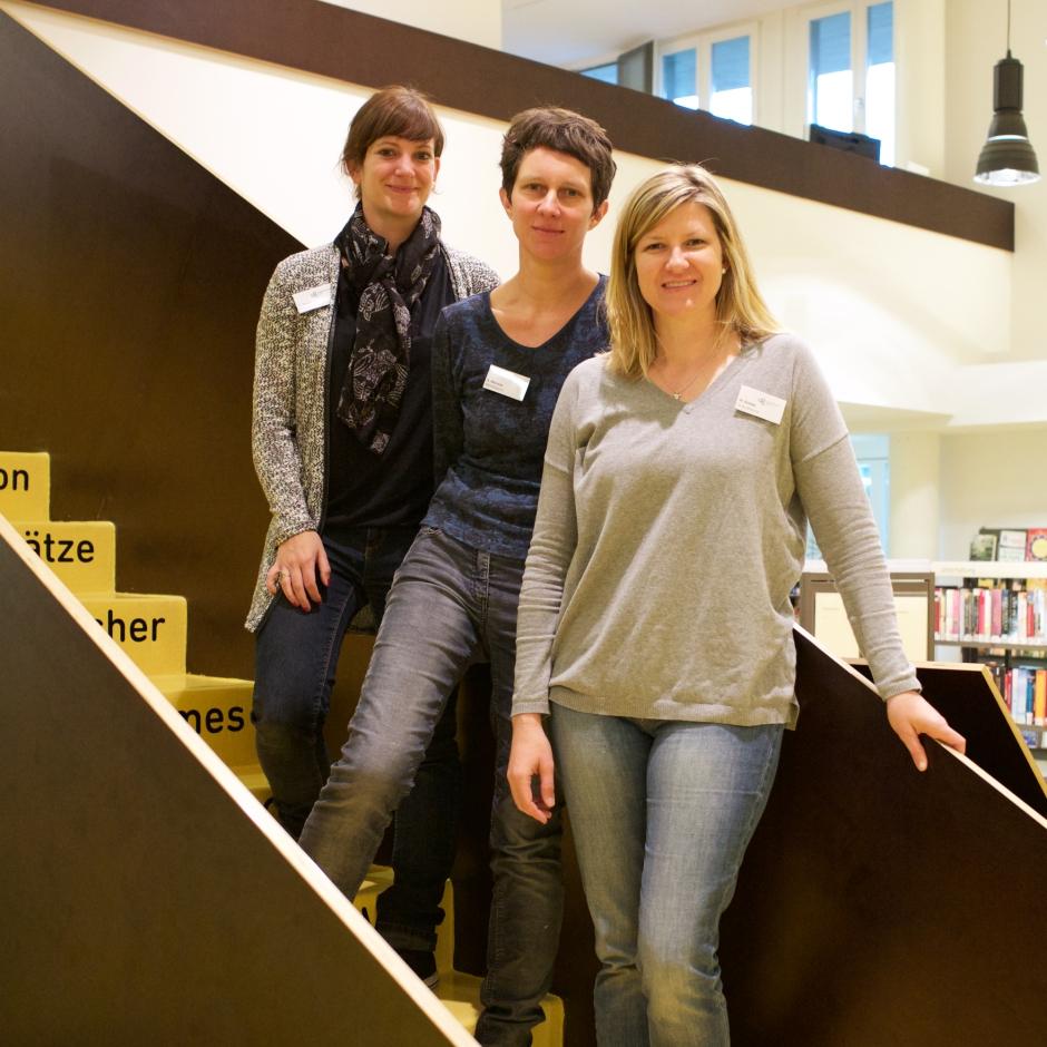 Karin Minssen (MItte) und ihr Team von der GGG Basel West